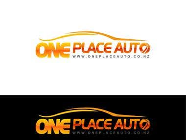 One Place Auto Logo Design