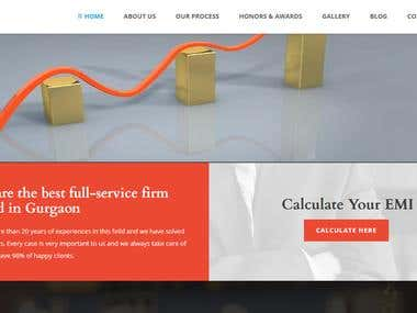 Loan and Finance service website