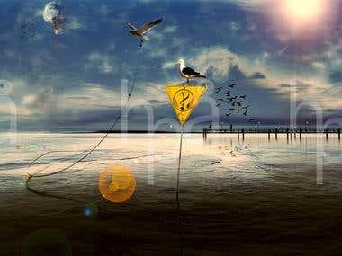 Illustration. musical cover artwork (Puerto22 ©2016).