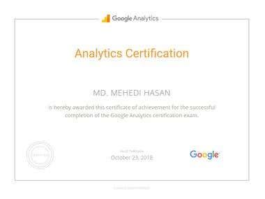 Google Adword Analytics Certification.