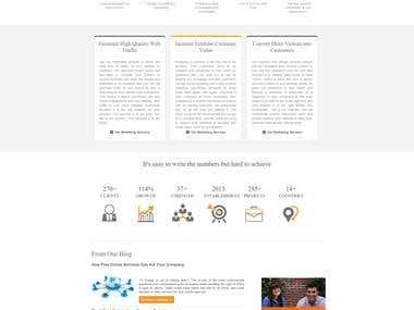 Responsive Marketing Website