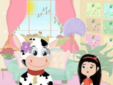 Children's Book (When a Cow comes into your house)
