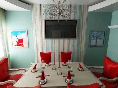 Interior design, 3d design