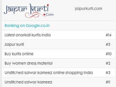 SEO for Jaipur Kurti