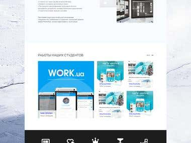 Landing page for IT school SPALAH