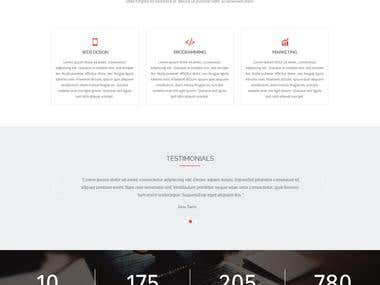 Themeforest approved layout I Business One Page PSD Template