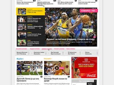 Sport Magazine Website Design