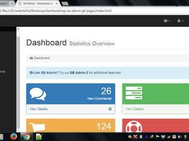Admin panel website