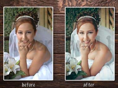 Wedding retouching photo