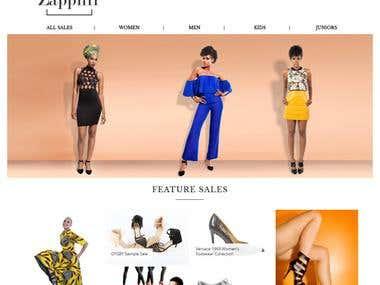 e-Commerce Webiste Design & Development ( Zapphir )