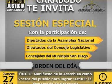 Diseño de Flyer para el Partido Político Primero Justicia.