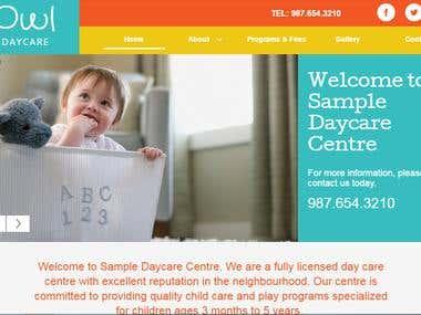 baby care website (WORDPRESS)