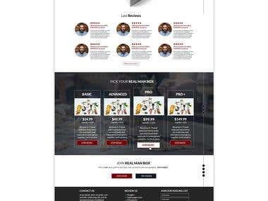 Landing page for RealManBox