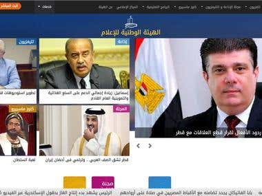Developing Egypt Radio and TV Unit website