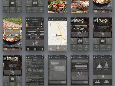 food App mock up/design