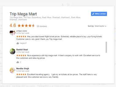 Post 50 reviews on google business