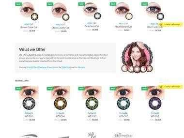 Online Lenses Store