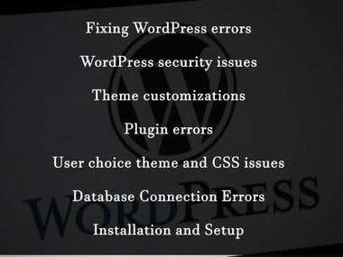 I will customize, install theme and fix bug in wordpress