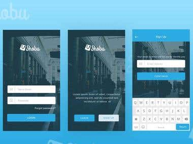 Splash Screen and Login design