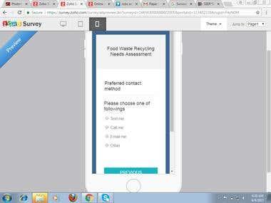 Zoho Survey for Walk Trough Application Form