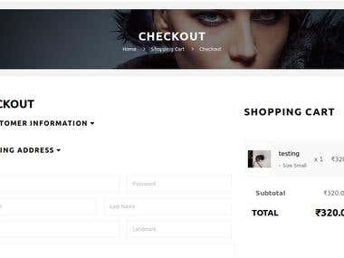 Custom Checkout for Opencart