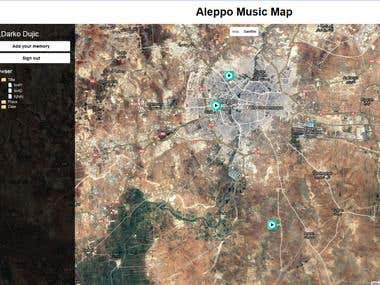 Aleppo music map