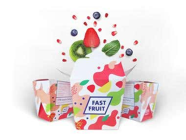Packaging and branding for fruit breakfasts delivery service