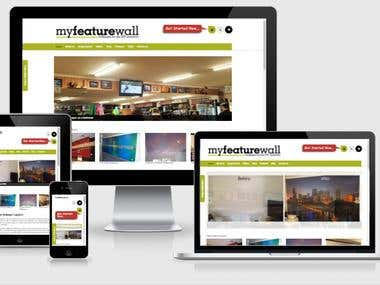 MyFeatureWall - Online eCommerce store for custom wallpapers