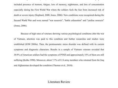 Post-traumatic Stress Disorder - A literature review