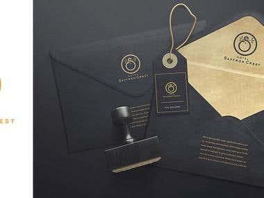 Brand designing for Saffron Crest
