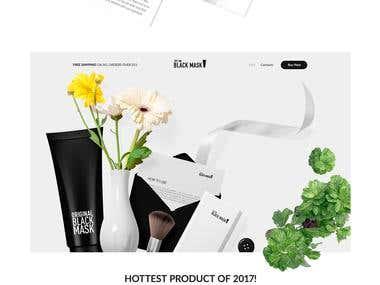 The Black Mask - Official Website Design