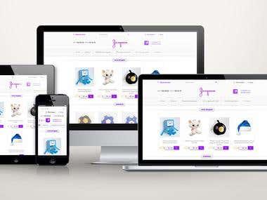 "Online shop - ""Cinderella"""
