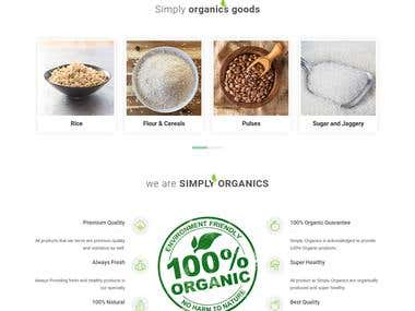 Simply Organics:- Online Organics Grocery / Retail Store