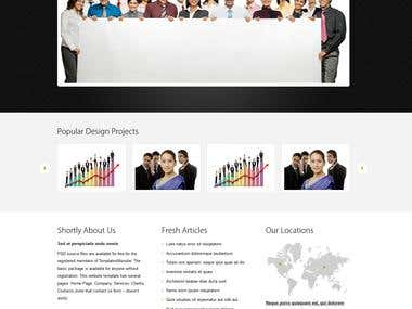 Design and Development, PHP, HTML5, CSS3, Jquery