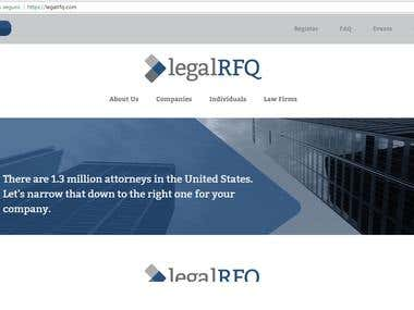 LegalRFQ web development