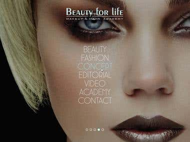Beauty for Life - make up artist site and blog