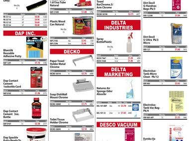 Sample page of product catalog