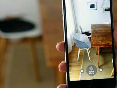 Augmented Reality product display in 3D