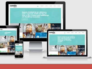 Wordpress blog and business website design for hamren media