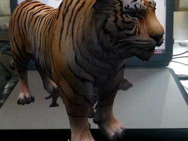 Augmented Reality Lion
