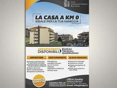 Flyer design for sale of apartments
