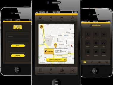 Taxi Application, Android/ IoS