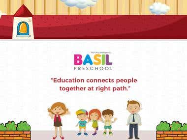 Basil Preschool Advertisement Banner