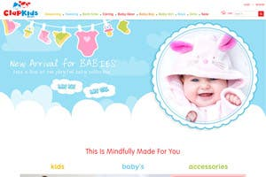 Clap Kids - ECommerce Website - Kids clothing & accessories