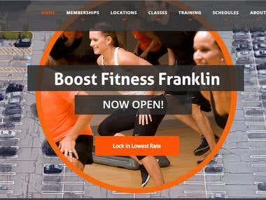 Fitness WordPress Website