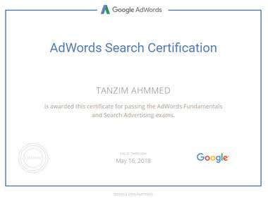 Google AdWords Certification.