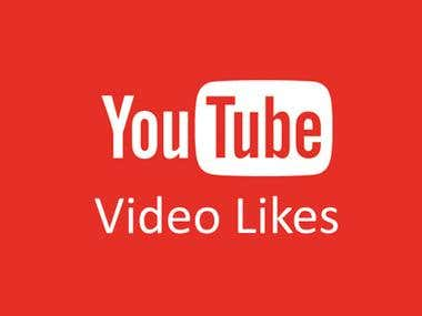I can Provide you YouTube Video Likes.