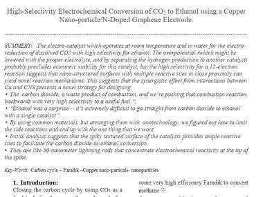 Technical report in Nanotechnology about CO2 to ethanol
