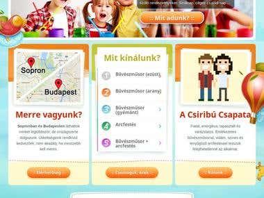 Website design and development www.csiribu.hu