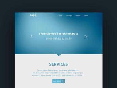 Psd design Website